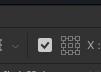 自由変形の後に、optionキーでアンカーを打つための表示項目